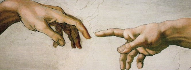 the Hands by Michelangelo