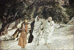 Road to Emmaus  by James J. Tissot